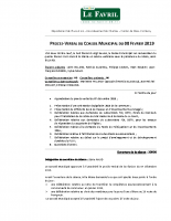PV Conseil Municipal du 08.02.2019