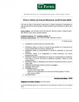 PV Conseil Municipal du 03.02.2020