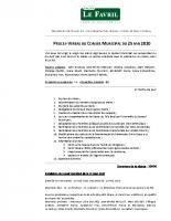 PV Conseil Municipal du 25.05.2020