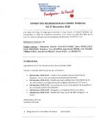 Extrait Délibération Conseil Syndical du 2711202