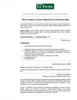 2018 01 15 – PV Conseil Municipal