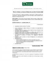 2018 09 28 – Le Favril 28 – PV Conseil Municipal